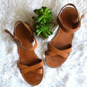 Madewell Crisscross Sightseer Flat Sandals 8.5